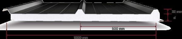 101 EPS Yalitimli 3 Hadveli Cati Paneli