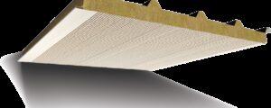 Taş Yünü Yalıtımlı 5 Hadveli Akustik Çatı Paneli