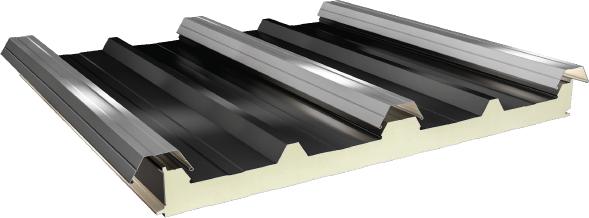PUR/PIR Yalıtımlı 5 Hadveli Gizli Vidalı Çatı Paneli