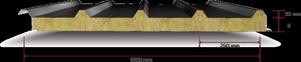 Taş Yünü Yalıtımlı 5 Hadveli Çatı Paneli