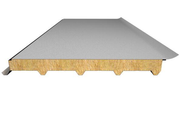 Taş Yünü Yalıtımlı 5 Hadveli Lamine Membranlı Çatı Paneli